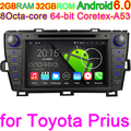 Octa Ядро Android 6.0.1 Автомобильный DVD Медиа-Плеер Для Toyota Prius 2009 2010 2011 2012 2013 С 32 ГРОМ 2 ГБ RAM GPS Автомобиля компьютер