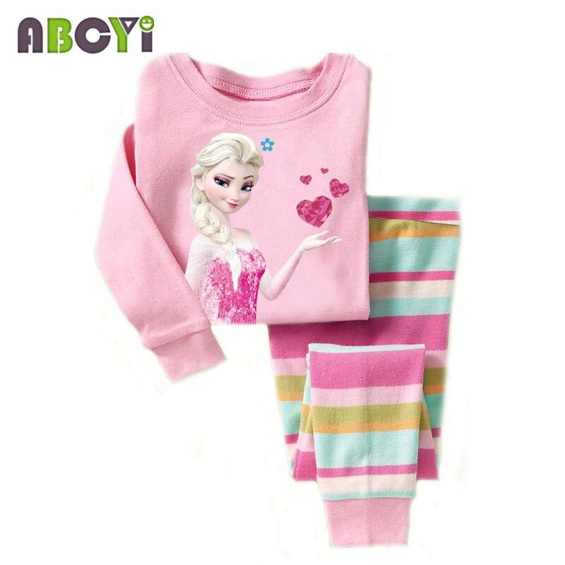 children's pajamas Long Sleeve Clothes Kids Pajamas Baby Clothing Sets for Boys pijama Girls pyjamas Cartoon Sleepwear 2