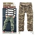 Manera de la alta calidad de los hombres de carga multi-bolsillo de camuflaje pantalones de los hombres del ejército overol sin cinturón envío gratuito 7 colores CG001