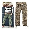 Moda de alta qualidade dos homens de carga multi bolso da calça de camuflagem para os homens do exército macacão sem cinto frete grátis 7 cores CG001