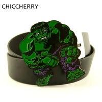 אופנה Mens חגורות עור השחור PU מגניב חם סרט הענק הירוק גדול אבזמי חגורה ירוק מתכתי Hebillas Cinturone Hombre