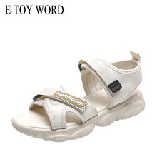 E TOY WORD Women Sports Sandals Fashion Summer Flat Shoes Peep-toe Beach Bear Shape Bottom Comfortable women sandals