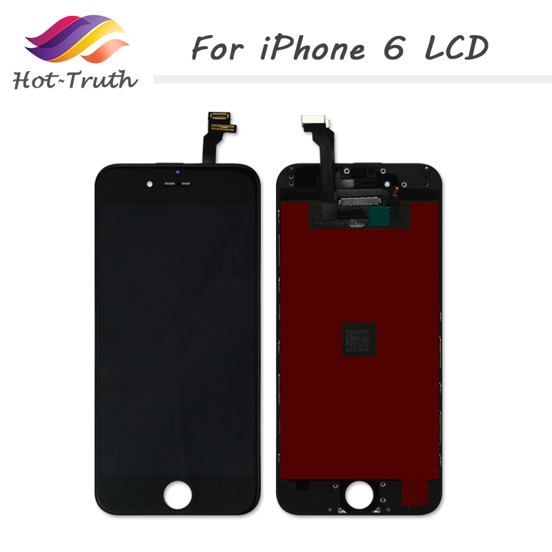 Hot Truth 100Pcs/Lot LCD Digitizer For iPhone 6 Screen Replacement Parts 3D touchscreen 4.7 Display with Frame AAA