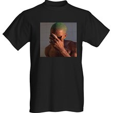 Frank Ocean T-shirt Top Tee 100% Cotton Humor Men Crewneck Shirts Print Mens Summer O-Neck T Shirt Plus Size