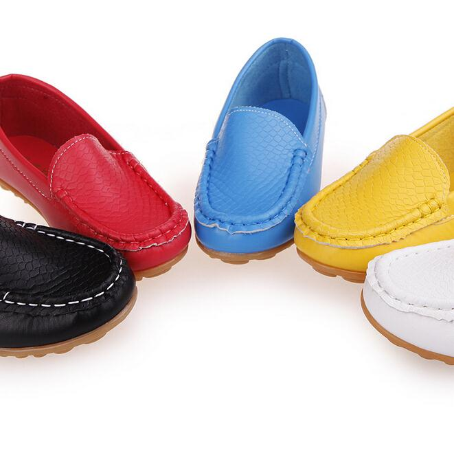New Leather Children Shoes Boys Loafers Black Spring Leather School Sneakers Kids Child Wedding Shoes