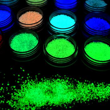 2020 nowy product Glitter świecący gwóźdź naklejka artystyczna naklejki ozdabianie tipsów DIY akrylowy Manicure zdrowe piękno Nail Art tanie i dobre opinie App 1 5g - 2g Paznokci brokat YG01 - YG07 1 Bottle Glitter powder 7 Colors