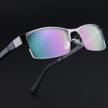 Business Glasses Men Fashion Glasses Myopia Full Frame Can Be Equipped Myopia Lens Prescription Glasses Big Box 053