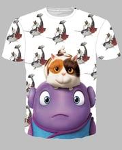 Fashion 3D Print T shirt Cushions Homes Aliens Cotton Unisex Tee Shirts Animation Short Sleeve Casual