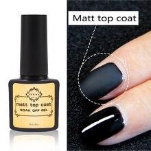 Vernis à ongles en Gel UV Transparent, Soak-Off, couche de Base/mate/supérieure, laque, pour Nail Art, 8ml