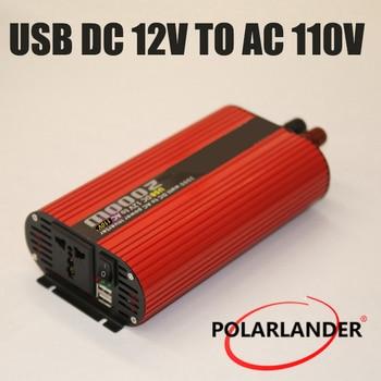 2000W Polarlander Dual USB Car Inverter 12V/24V 110V/220V DC to AC Power Inverter Charger Vehicle Power Supply Switch