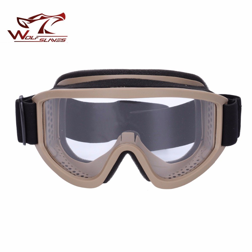 Wolfslaves X500 Tactical Airsoft Goggle Dust-proof Anti-fog Windproof Helmet Eyewear Outdoor Hunting Accessories Pleasant In After-Taste Orologi E Gioielli