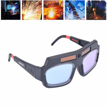 Solar Powered Auto Darkening Welding Mask Helmet Goggle Welder Glasses Arc PC Lens Great Goggles For Welding Protection Mayitr adjustable comfortable leather protected lens glasses welding hood helmet mask overhead labor safely security clothes