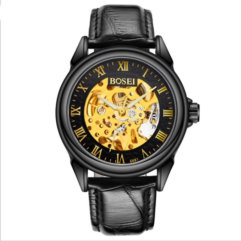 все цены на New product real belt watch men's mechanical watch automatic waterproof male watch fashion men's watch. онлайн
