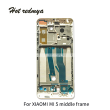 5Pcs Middle Frame For Xiaomi Mi 5 LCD Supporting Front frame Bezel Housing Faceplate Plate With Side Buttons