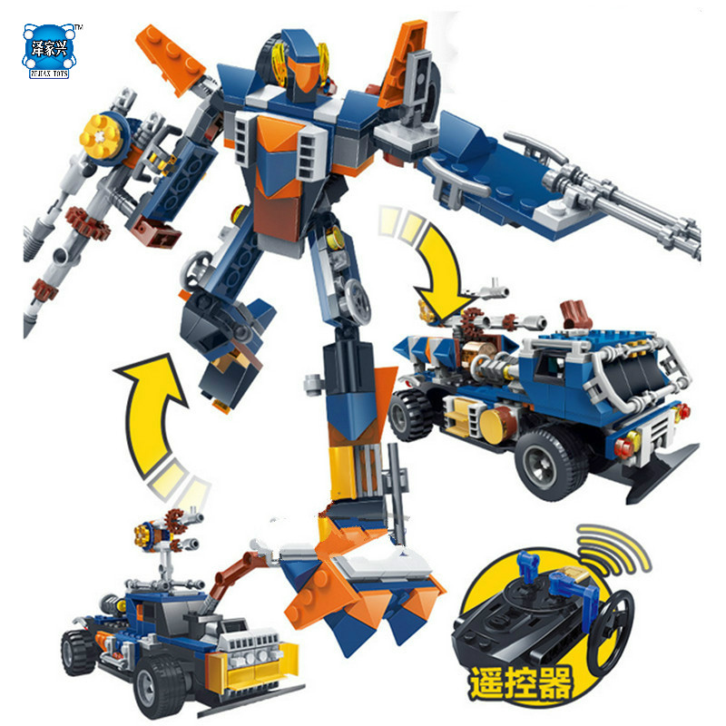NEW 205Pcs KAZI Building Blocks Blocks 3in1 Remote Control Trans Robot formers Playmobil Construction Bricks Toys For Children 8 in 1 military ship building blocks toys for boys