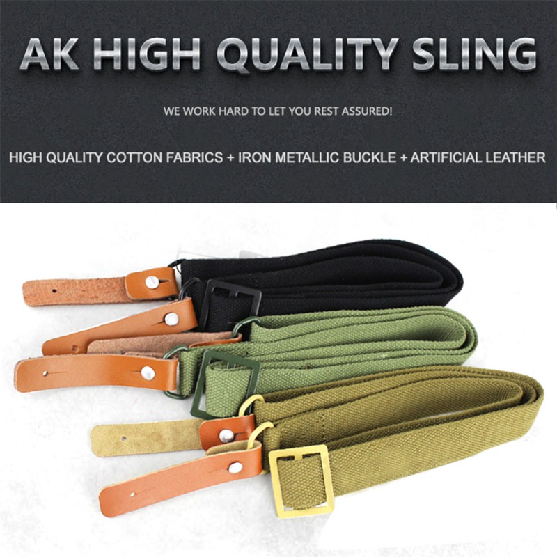 Sports & Entertainment Hunting Ak 47 Original Gun Sling Airsoft Military Hunting Shooting Adjustable Leather Tactical Ak Rifle Strap Survival Belt New