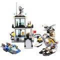 La Comisaría de Ciudad Avión barco Camión Motocicleta Building Block Set Educación KAZI 6726/6727 Figuras Juguetes