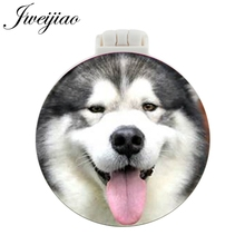 JWEIJIAO Collie Shepherd Dog Pocket Mirror With Massage Comb A loyal partner Folding Compact Portable Makeup Hand Vanity Mirrors