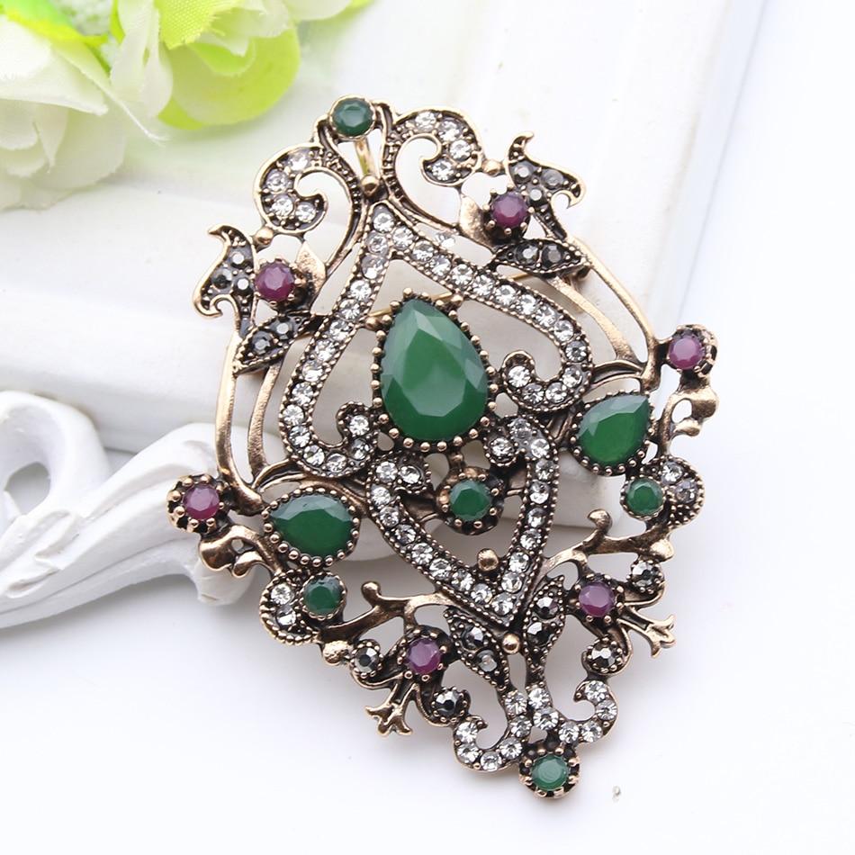 Етнічна турецька брошка для жінок - Модні прикраси - фото 2