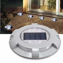 Solar Road Stud Lighting Aluminum 4LED Outdoor Security Lights Lamp Driveway Pathway Yard Garden Step