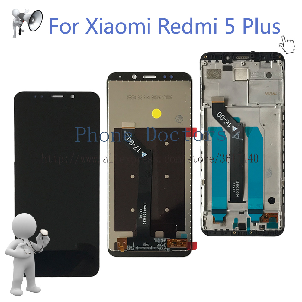5.99 For Xiaomi Redmi 5 Plus Full LCD DIsplay + Touch Screen Digitizer Assembly With Frame For Xiaomi Redmi 5plus LCD Replace