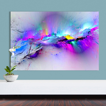 Canvas painting wall art HD print 1 piece abstract illusive colorful cloud landscape picture nebula poster home decor for office