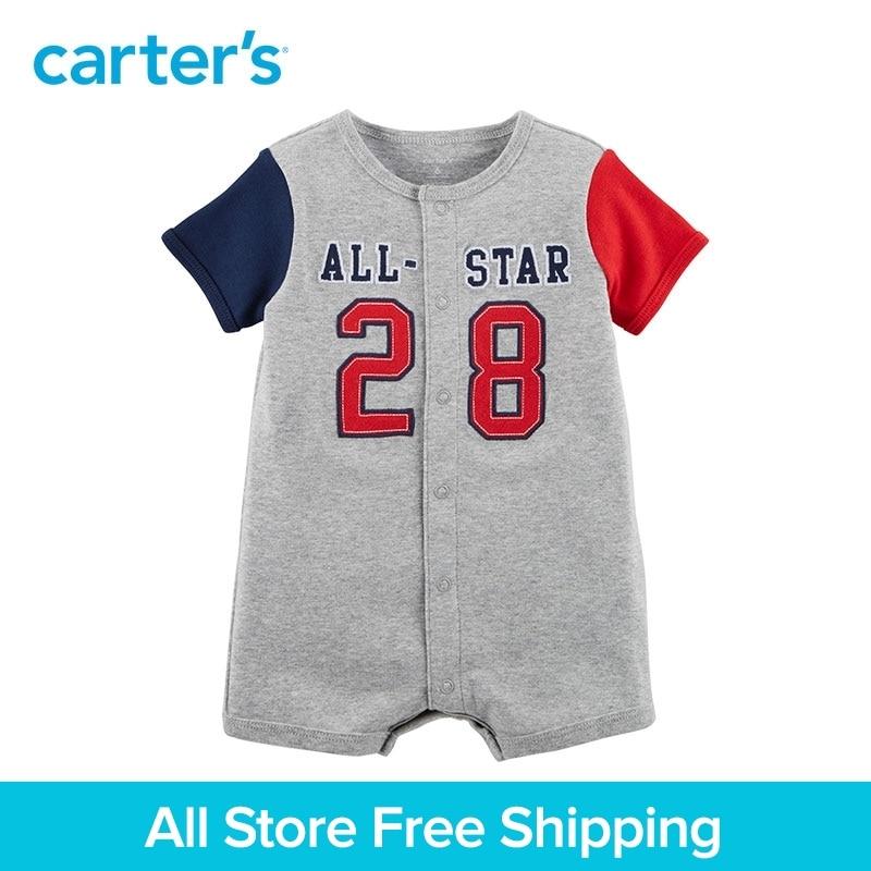 Sporty Baseball Snap-Up Coton Barboteuse de Carter bébé enfants enfants salopette vêtements Garçon D'été 118H900