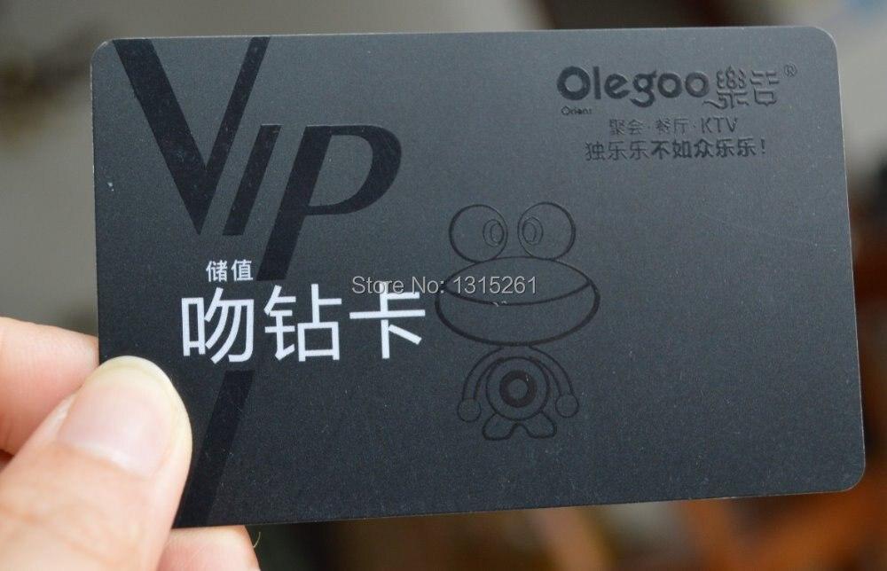 Spot UV plastic card, silk screen printing UV, matte card with Spot ...