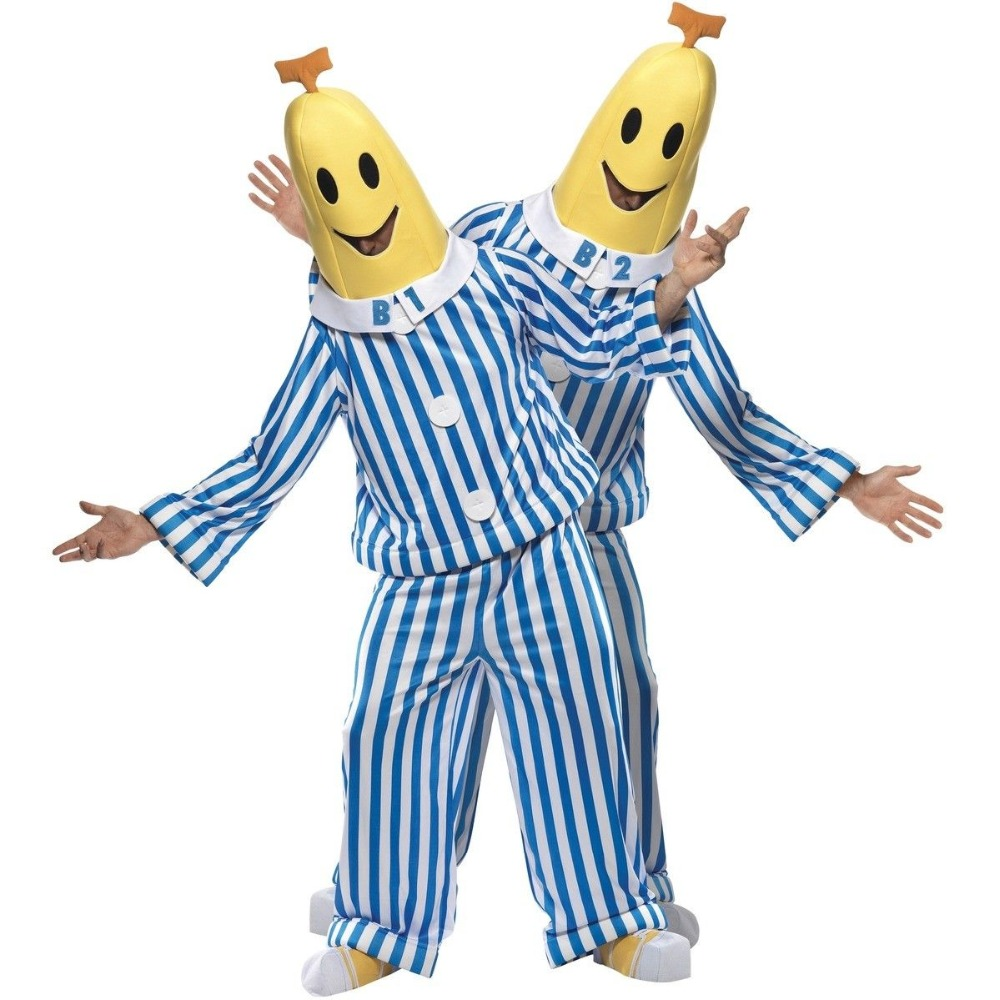 xxxl  xxxxl Bananas In Pajamas Adult Costume Pyjamas TV Show Gift Fancy Dress Cosplay B1 B2