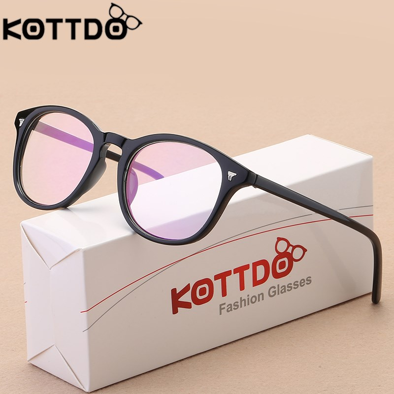 KOTTDO 2017 Retro Round Eyeglasses Frame Women Brand Designer Fashion Optical Eye glasses Frames Men Computer Eyewear oculos