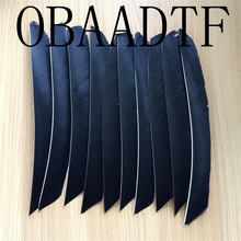 50pcs Black Full Length Real Turkey Feather For Archery Hunting And Shooting Arrow Fletching New Arrivals