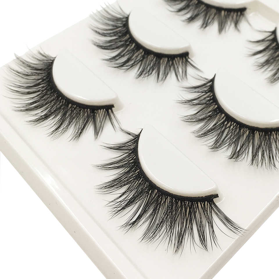 e2df7a67ca2 ... 3d False Eyelashes Hot 3D15 Handmade Faux Mink Lashes Charming Long /  Messy /Thick /