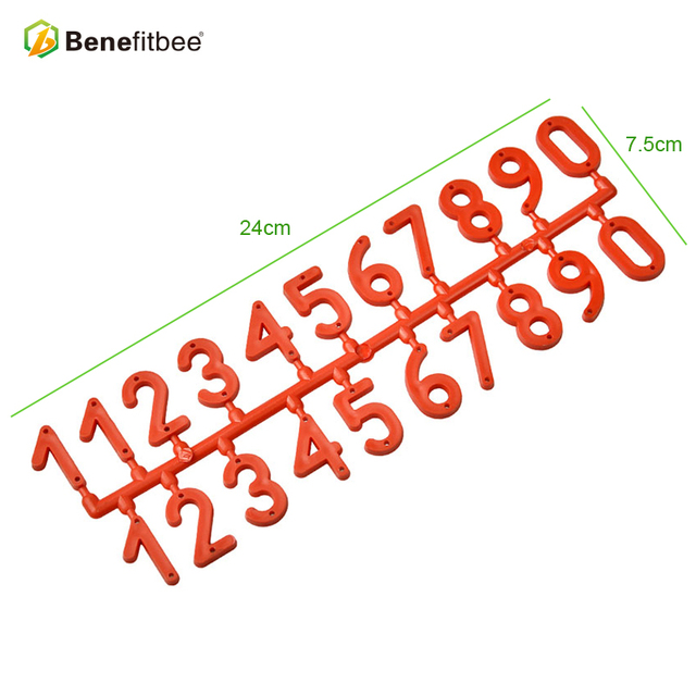 Benefitbee 3PCS/pack Plastic Beehive Digital Number Apiculture Box Sign Frame beekeeping equipment tool Beekeeping Marking Board
