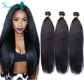 Malaysian Virgin Hair Straight  Italian Yaki 3 Pcs/Lot  Italian Yaki Straight Human Hair Weave Bundles 6A Malaysian Virgin Hair