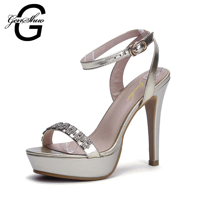 ФОТО 2017 Brand Design Vogue Women Pumps T-stage Classic Dancing Rhinestone High Heels Sandals Shoes Party Wedding Solid Ladies Shoes