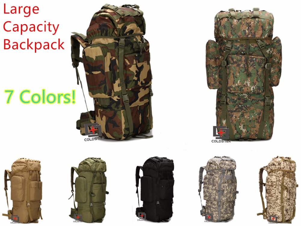 Multicam Unisex Large Capacity Mountaineering Bag High quality Outdoor Backpack Waterproof Travel Hiking Camping Tactical Bags