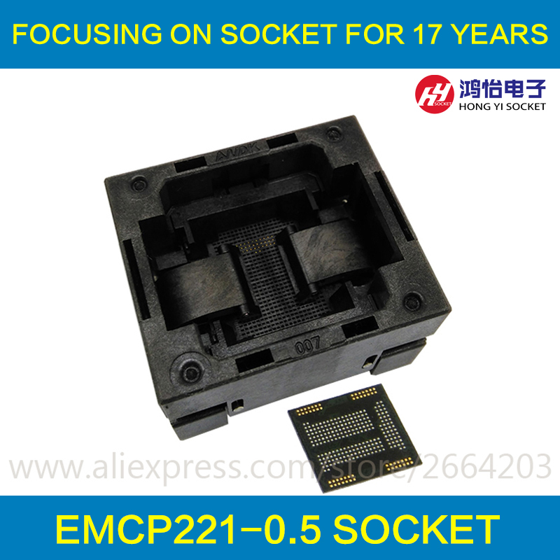 eMCP221 TOP-OPEN down press socket adapter without PCB board flash memory data recovery burn-in test programming code specific flash lqfp100 78k0 lg2 100gf test adapter