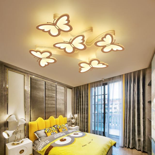 Ac90 265v Modern Led Ceiling Chandeliers For Living Room Bedroom Decor Lighting Fixtures Erfly Shape Dimming Chandelier Lamp