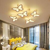 AC90 265V Modern LED Ceiling Chandeliers For Living Room Bedroom Decor Lighting Fixtures Butterfly shape Dimming Chandelier lamp