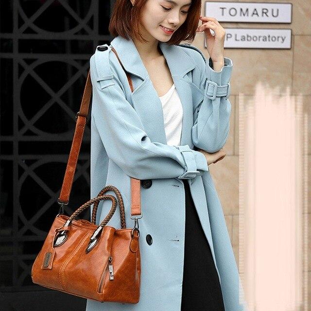 Luxury Brand 100% Genuine Leather Women's Messenger Bags Ladies Handbags High Quality Designer Shoulder Tote Bag For Female 5