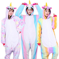 Wholesale Unicorn Pajamas Sets Flannel Animal Pajamas Adult Unisex Cosplay Costume Homewear Sleepwear For Men Women