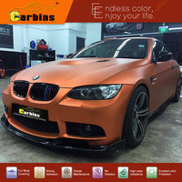 Europe Quality Matt Chrome Vinyl Car Wraps Film Brown Copper Color