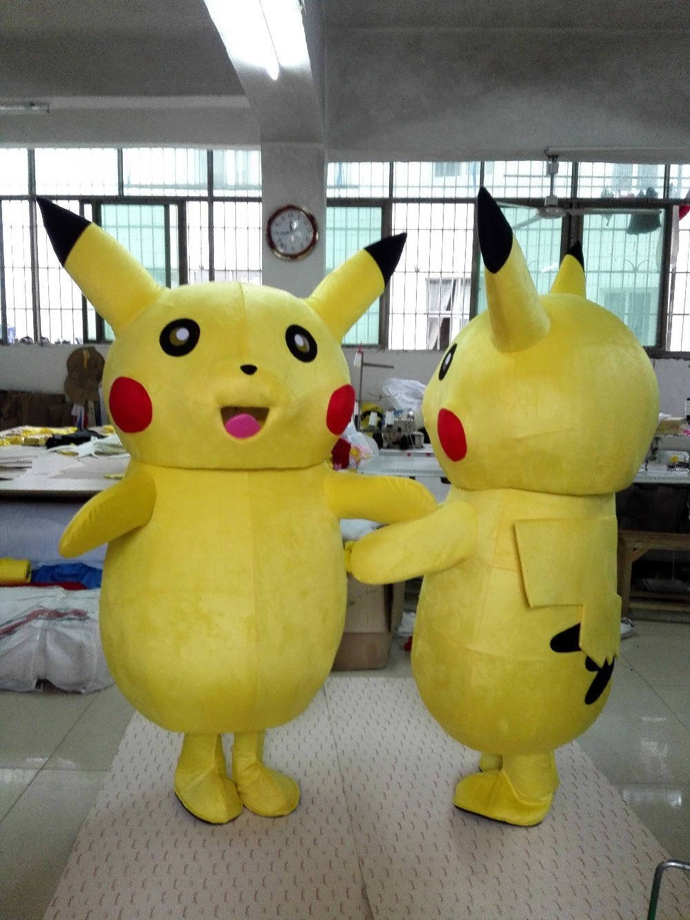 Lovely Yellow Pikachu Pokemon Mascot Costume Fancy Dress With Red Blusher Bright Small Black Nose Fat Yellow Belly No.5976 F S