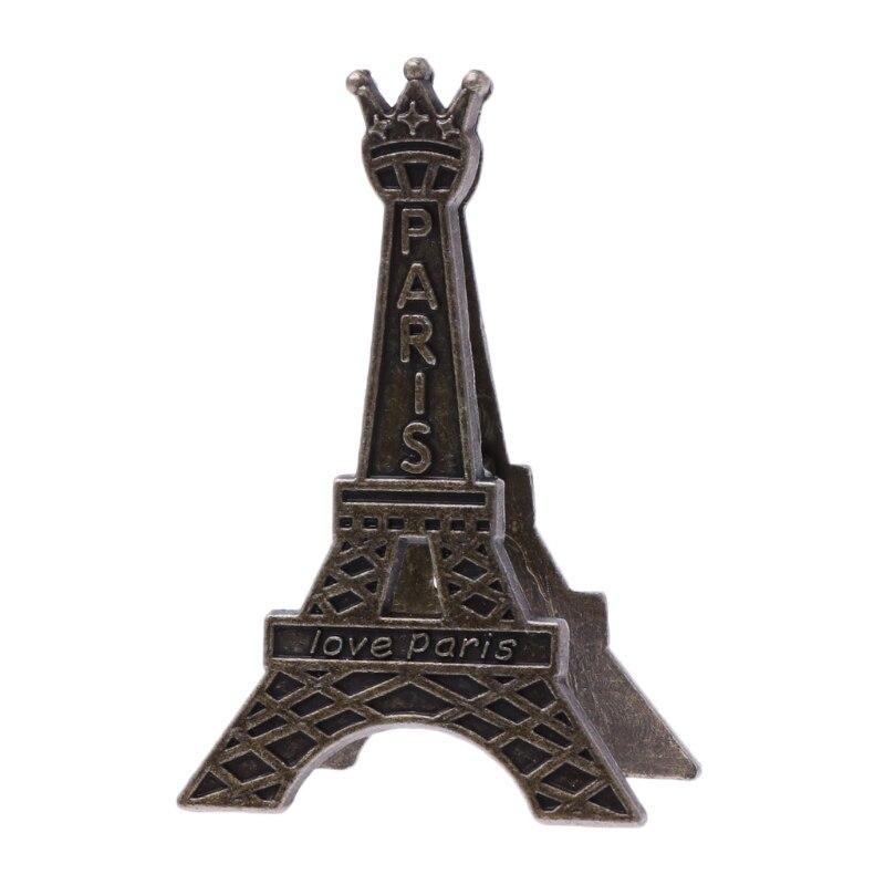 Vintage Tour Eiffel Paris Métal papier à mémo Clip Pour Message Décoration Photo