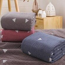 Одеяло с геометрическим узором, хлопок, марлевая нить/полотенце, одеяло, серое одеяло, покрывало для кровати cofffe, домашний текстиль, покрывало для путешествий, новинка