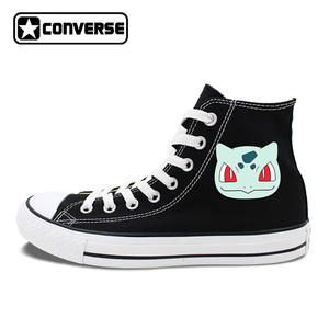 7256929d3089 Converse 2 Colors All Star Skateboarding Shoes Black White Anime Chuck  Taylor