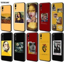 YIMAOC Art Aesthetic Van Gogh Mona Lisa David Case for Huawei Mate 20 Honor 6a 7a 7c 7x 8 8x 9 10 Nova 3i 3 Lite Pro Y6 2018(China)