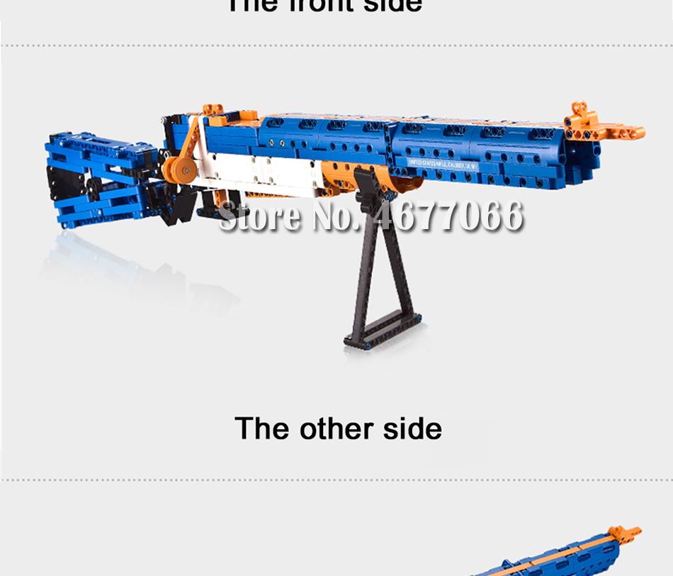 Legoed gun model building blocks p90 toy gun toy brick ak47 toy gun weapon legoed technic bricks lepin gun toys for boy 149