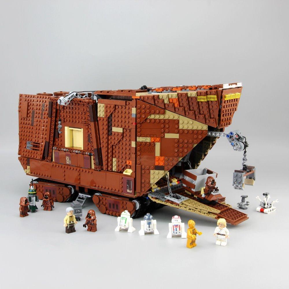 Lepin 05038 3346Pcs Force Awakens Sandcrawler Model Building Kit Blocks Brick Compatible 75059 lepin 05038 star wars episode iv sandcrawler similar with 75059 buliding kit
