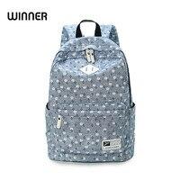 Fresh Cute Women Book Bags Floral Printing Backpack Mori Girl Bag Canvas School Backpacks For Teenage